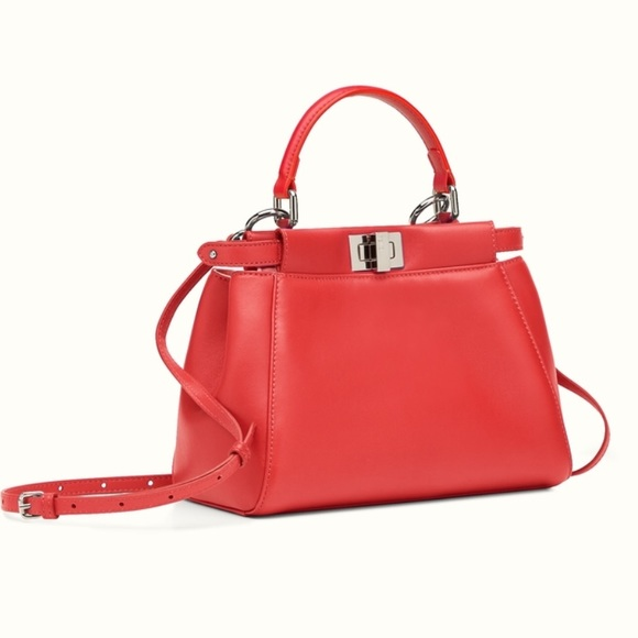 Fendi Handbags - Authentic Fendi mini peekaboo (Coral) 8e415b1787728