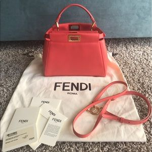 Fendi Bags - Authentic Fendi mini peekaboo (Coral) 5349339b3d2fd