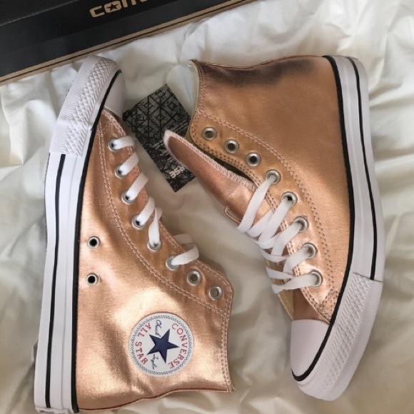 off converse shoes converse all star chuck taylor metallic rose gold. Black Bedroom Furniture Sets. Home Design Ideas