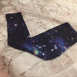 XL galaxy print leggings