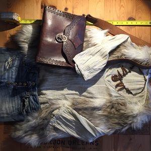 Skies Are Blue Jackets & Blazers - Fur vest
