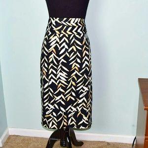 Dresses & Skirts - Gorgeous White & Black Print Skirt