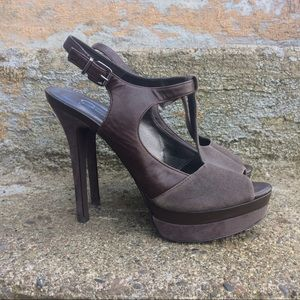 Jessica Simpson Platform Leather Slingbacks