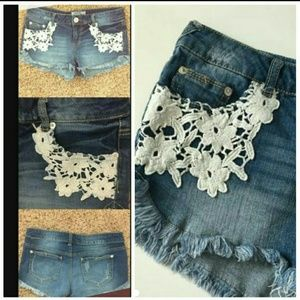 Massimo Alba Pants - CUTE CROCHET DENIM SHORTS
