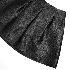 Theory black pleated skirt