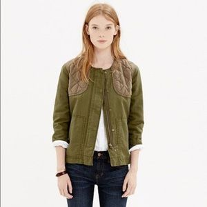 Madewell quilted bomber jacket