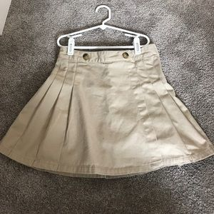 Girls pleated khaki skirt size 8