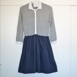 Dresses & Skirts - Gray and Navy Shirtdress