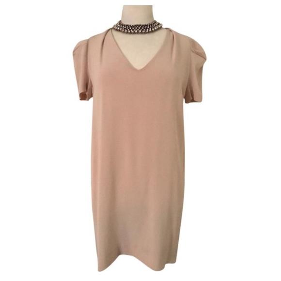eb2e3103711 Vanessa Bruno Dresses | Silk Blend Nude Beige Dress | Poshmark