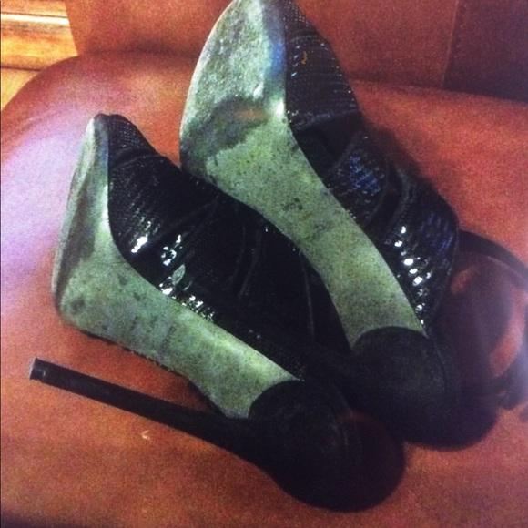 Tom Ford Shoes - Tom Ford Black Sequin Heels