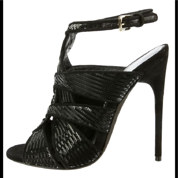 Tom Ford Shoes - Tom Ford Black Sequin Heels