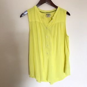 Anthropologie Holding Horses Yellow Tank