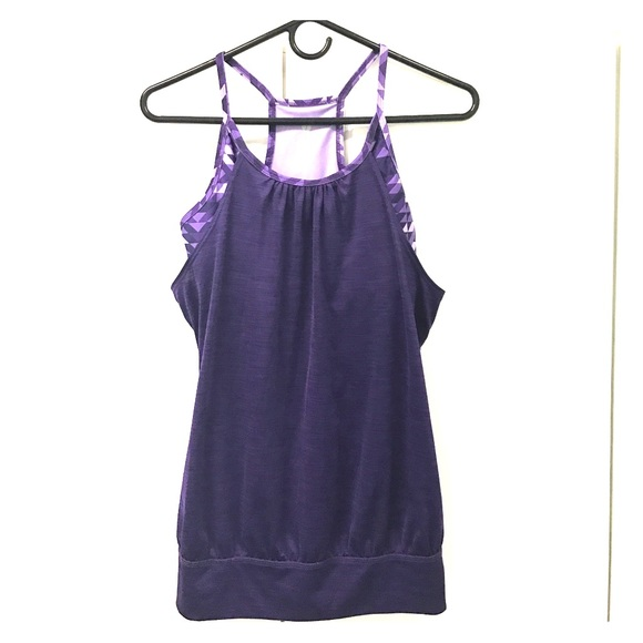 Old Navy Old Navy Purple Workout Top With Built In Bra
