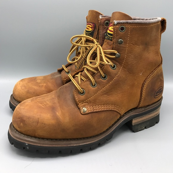 Skechers Cascades Work Logger Boot Leather 10.5