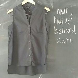 Harve Benard Tops - NWT Harve Benard Black Sleeveless Long Top Sz M