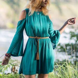 Cq4955-Teal Dress