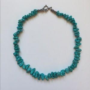 """Jewelry - Turquoise hand-made necklace - 16"""" long"""