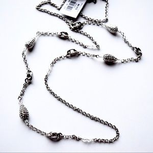 LOFT Long Pave Beads Necklace