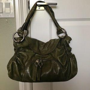 B. Makowsky Handbags - B. Makowsky Green Leather Purse
