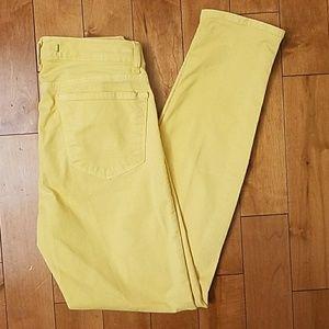 J Brand Denim - J Brand Canary Yellow Skinny Jeans