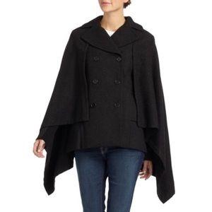 *FINAL PRICE* BCBGMAXAZRIA charcoal wool cape coat