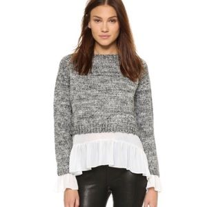 English Factory Sweaters - 🆕 English Factory Layered Flounce Sweater