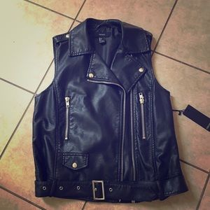 Faux leather vest brand new with tags attached