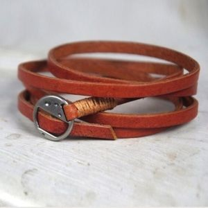 Jewelry - Back in stock Real leather wrapping bracelet