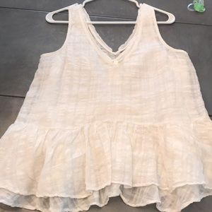 Anthropologie Linen Tank