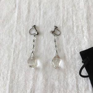 Jewelry - 1920's silver/crystal earrings!