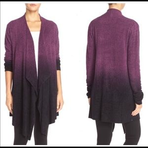 Barefoot Dreams Sweaters - Barefoot Dreams Calypso Wrap Plum/Aubergine Ombre