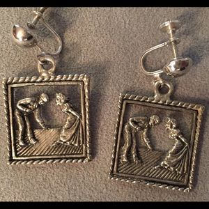Jewelry - Vintage  Silver Color Earrings