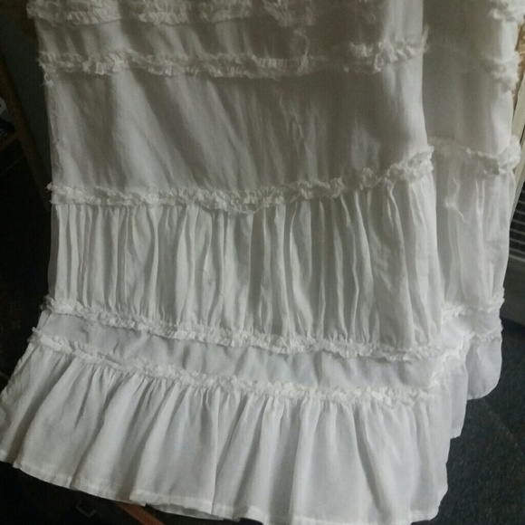 Long White Peasant Skirt 66
