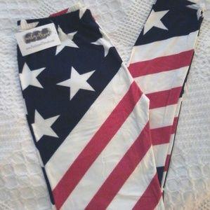 Paisley and Threads Flag leggings