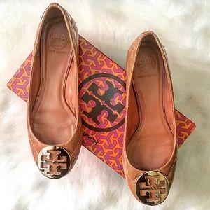 Tory Burch Shoes - Tory Burch Patent Reva Flats, Size 9