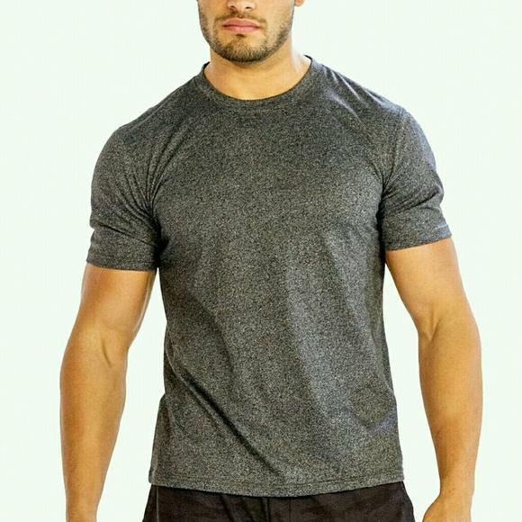 a4b02d196db Men Simple Grey Blank Half T-Shirt For Gym