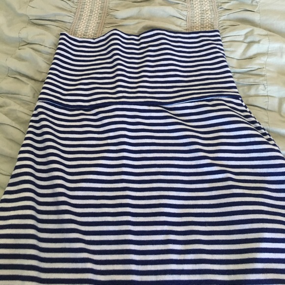 75 dresses skirts blue and white stripe maxi