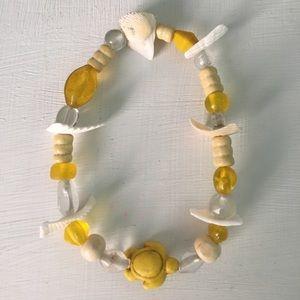 Jewelry - Glass Beads, Shell and Wood Bracelet