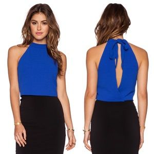 Bloomingdale's Tops - ⭐️HP⭐️ ROYAL BLUE OPEN BACK HALTER
