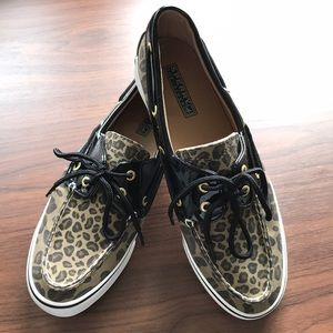 Sperry Top-Sider Shoes - Sperry Biscayne Leopard Boat Shoes