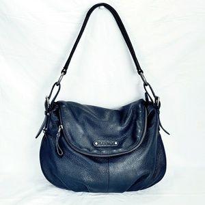 Lodis Handbags - Lodis Black Leather Hobo Shoulder Bag