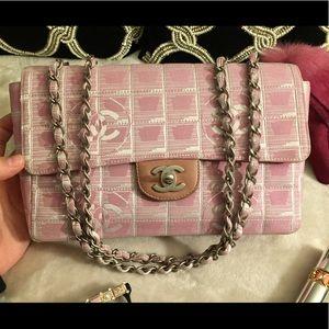 CHANEL Handbags - 🌸Pink CHANEL jacquard double flap bag🌸