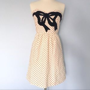Judith March Dresses & Skirts - Judith March Strapless Polka Dot Bow Pinup Dress