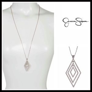 Jessica Simpson Jewelry - JESSICA SIMPSON PAVE CRYSTAL NECKLACE