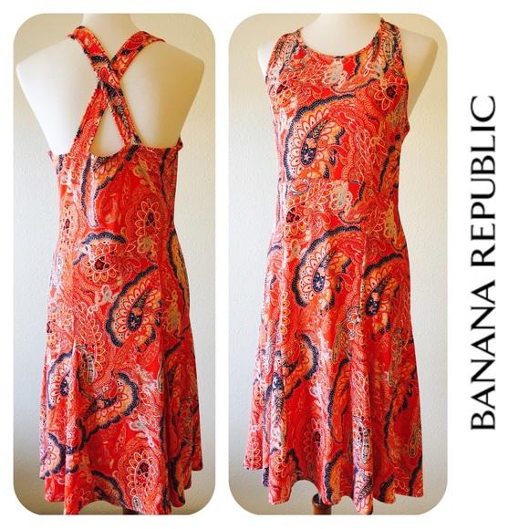 5fe5cf9b745 Banana Republic Criss Cross Back Dress