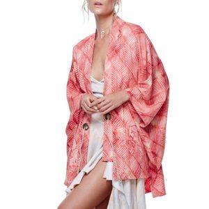 Free People Tops - Free People Shibori Printed Kimono (OS- One Size)