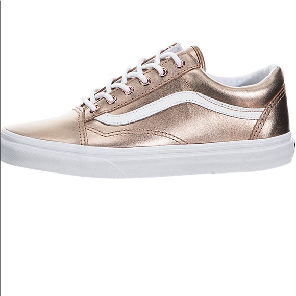 cd97aba76d85ea NEW Rose Gold Vans Old Skool Metallic Vans sz 7