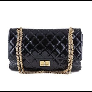 CHANEL Handbags - CHANEL Black Patent Reissue 2.55 227 Double Flap