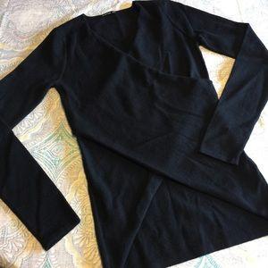 PattyBoutik Sweaters - Pattyboutik cross cross long sleeve top NWOT