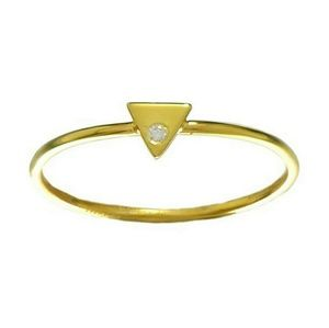 Jewelry - Triangle 14k gold plated stacking ring